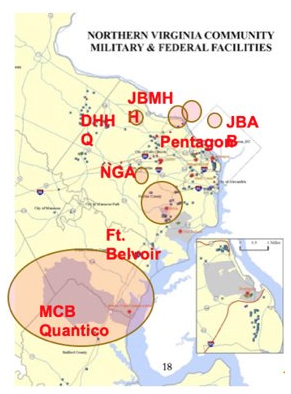 Map of Military Facilities