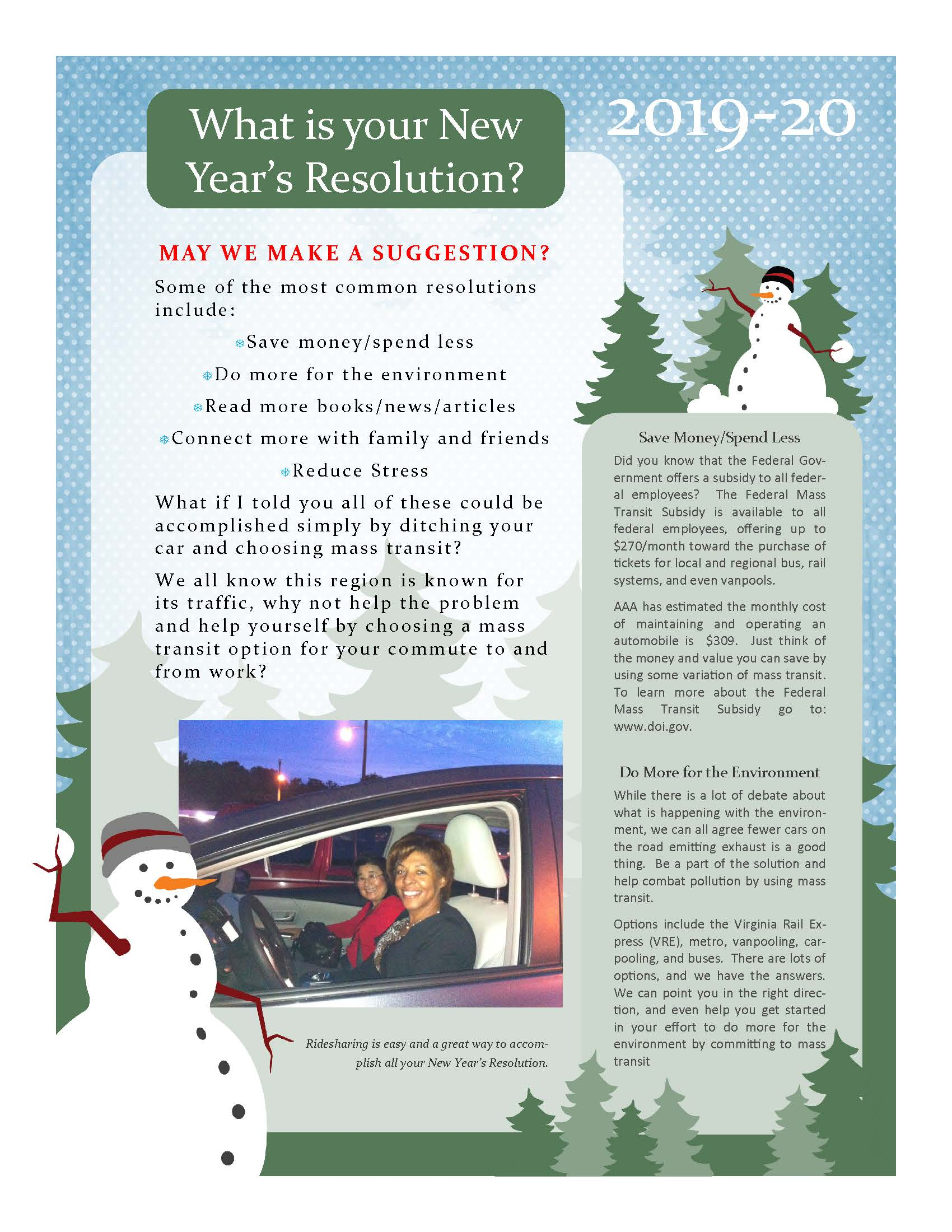 New Years Resolution Flyer